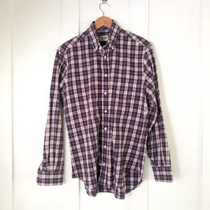 GITMAN Bros USA Made Long Sleeve Plaid OCBD Shirt